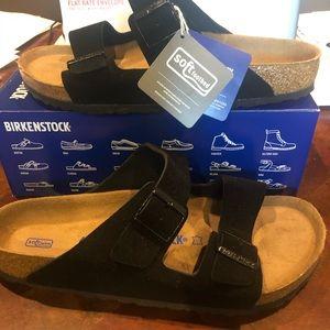 Birkenstock Arizona black suede 10 medium new